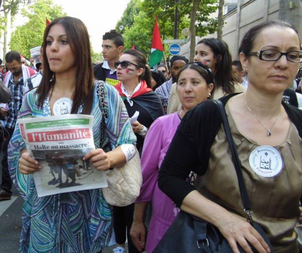 MANFESTATION POUR LA PAIX EN PALESTINE JUILLET 2014 / L'HUMANITE